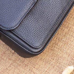 Túi xách nữ da thật cỡ nhỏ, màu đen 14