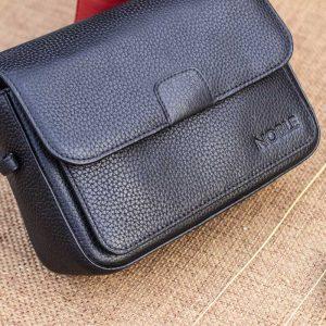 Túi xách nữ da thật cỡ nhỏ, màu đen 12