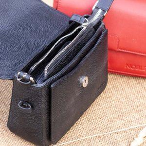 Túi xách nữ da thật cỡ nhỏ, màu đen 11