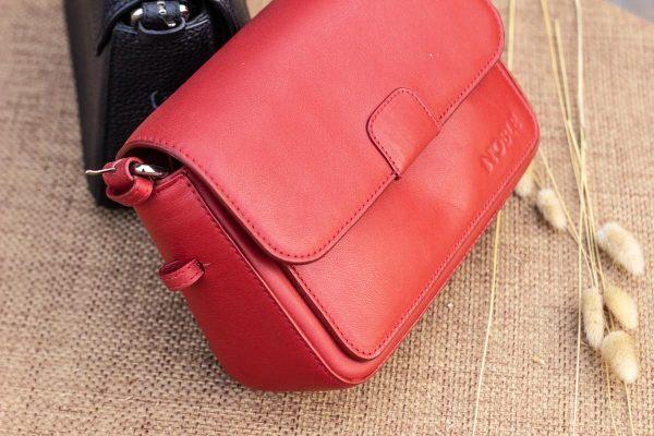 Túi xách nữ cỡ nhỏ, màu đỏ 4