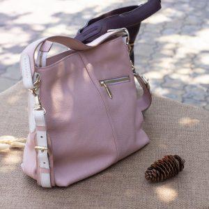 Túi xách nữ cỡ lớn, màu hồng sữa 14