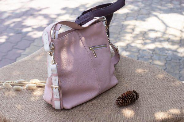 Túi xách nữ cỡ lớn, màu hồng sữa 8