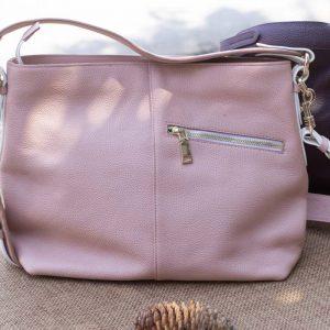 Túi xách nữ cỡ lớn, màu hồng sữa 13