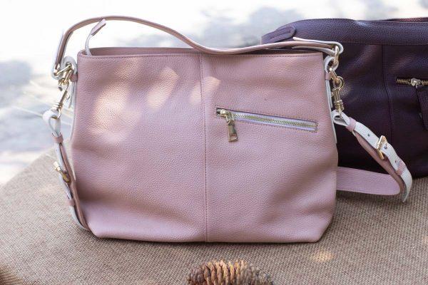 Túi xách nữ cỡ lớn, màu hồng sữa 7