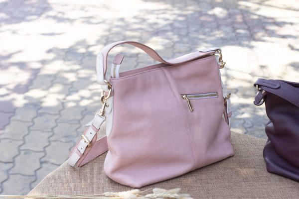 Túi xách nữ cỡ lớn, màu hồng sữa 3