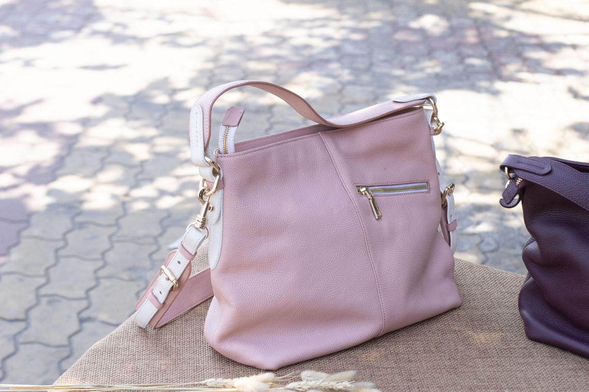 Túi xách nữ cỡ lớn, màu hồng sữa 19