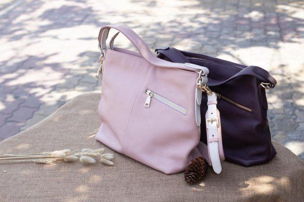 Túi xách nữ cỡ lớn, màu hồng sữa 4