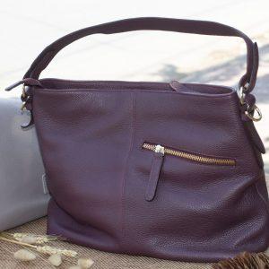 Túi xách nữ cỡ lớn, Màu mận 12