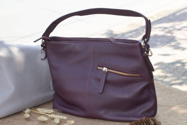Túi xách nữ cỡ lớn, Màu mận 7