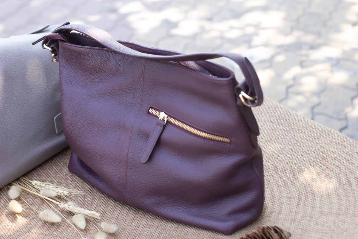 Túi xách nữ cỡ lớn, Màu mận 15