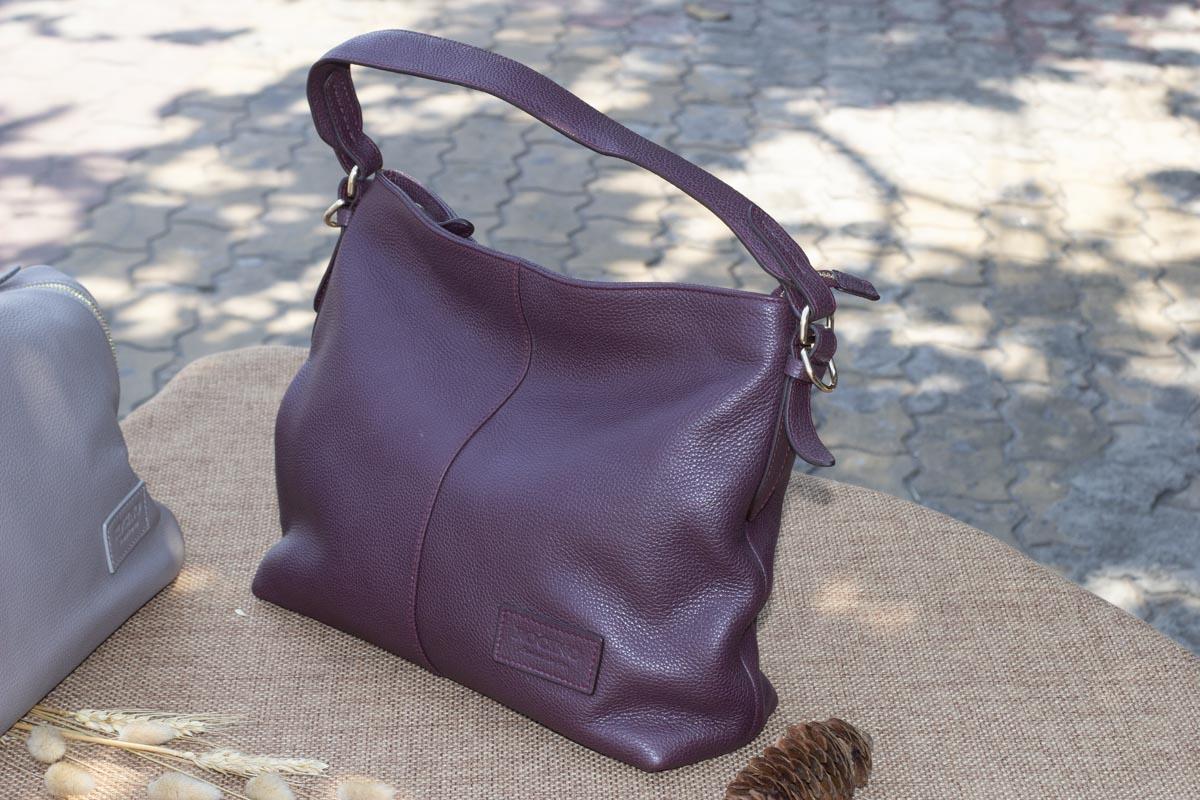Túi xách nữ cỡ lớn, Màu mận 16