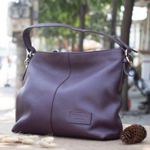 Túi xách nữ cỡ lớn, Màu mận 11