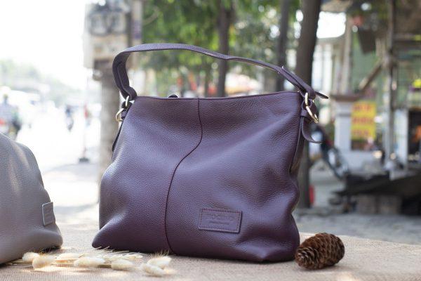 Túi xách nữ cỡ lớn, Màu mận 6