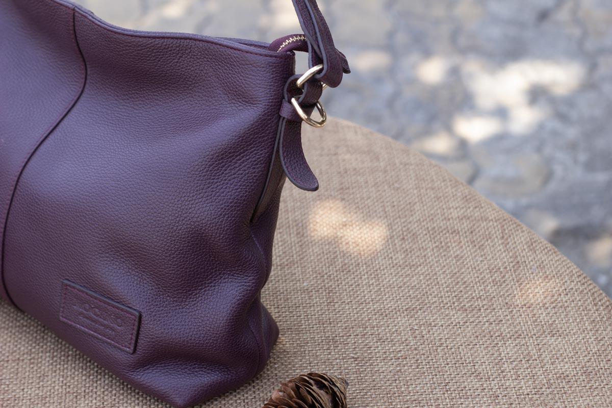 Túi xách nữ cỡ lớn, Màu mận 18