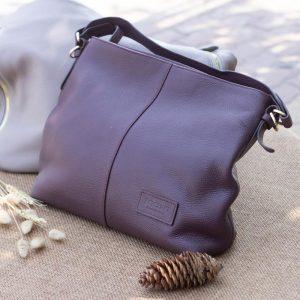 Túi xách nữ cỡ lớn, Màu mận 10