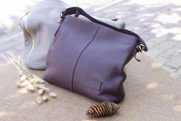 Túi xách nữ cỡ lớn, Màu mận 5