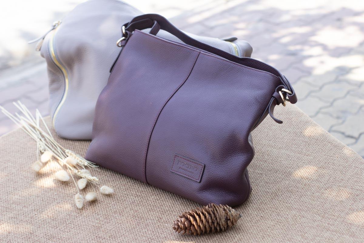 Túi xách nữ cỡ lớn, Màu mận 19