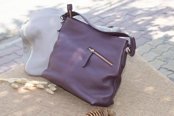Túi xách nữ cỡ lớn, Màu mận 4