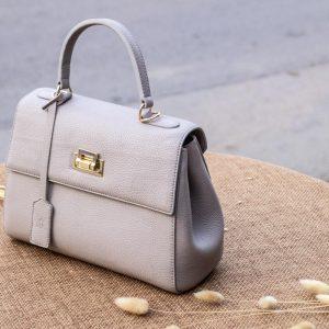 Túi xách nữ da thật, màu trắng sữa 15
