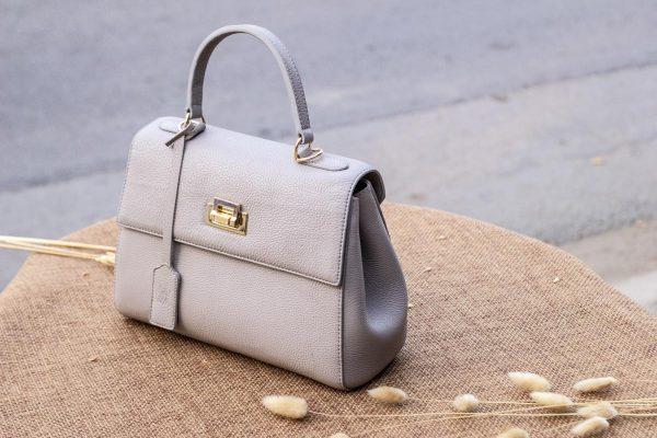 Túi xách nữ da thật, màu trắng sữa 9