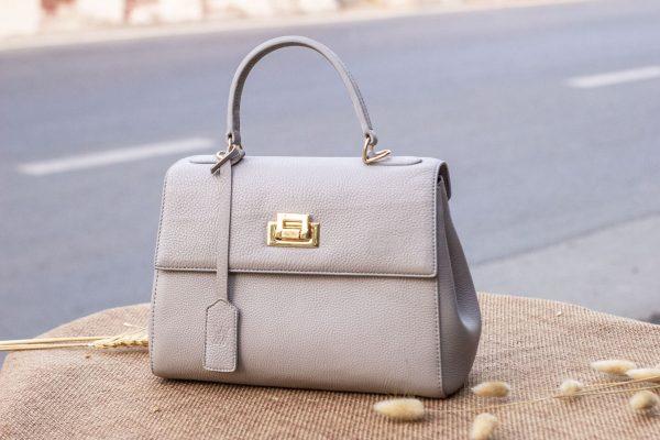 Túi xách nữ da thật, màu trắng sữa 3