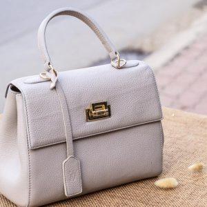 Túi xách nữ da thật, màu trắng sữa 13