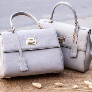Túi xách nữ da thật, màu trắng sữa 11