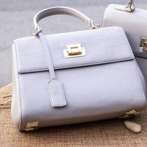 Túi xách nữ da thật, màu trắng sữa 10
