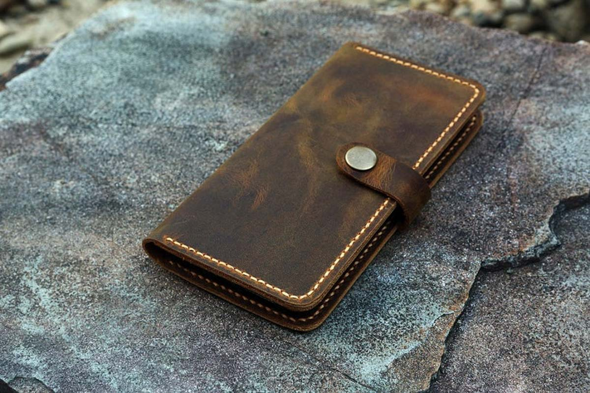 Ví da nam handmade, Đựng Iphone 8, 8 Plus 16