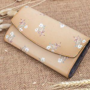 Ví cầm tay nữ handmade, in hoa 10