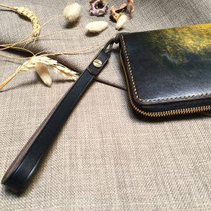 Ví zip handmade cao cấp - Vegetable tan patina 15