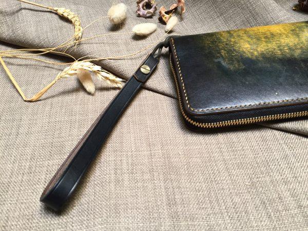 Ví zip handmade cao cấp - Vegetable tan patina 9