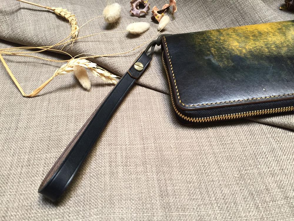 Ví zip handmade cao cấp - Vegetable tan patina 16