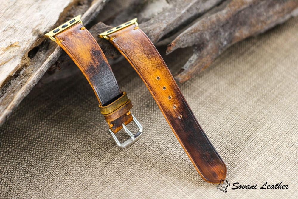 Dây đồng hồ Da Veg nhuộm Patina độc đáo - handmade cao cấp 23