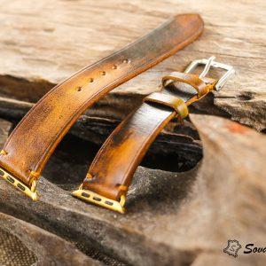 Dây đồng hồ Da Veg nhuộm Patina độc đáo - handmade cao cấp 15
