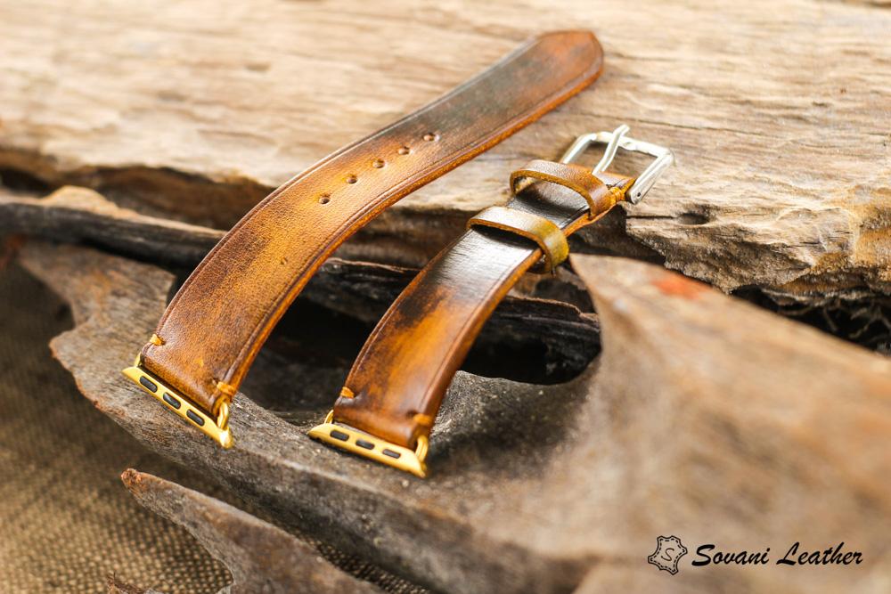 Dây đồng hồ Da Veg nhuộm Patina độc đáo - handmade cao cấp 29