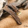 Dây đồng hồ da cá sấu EU cao cấp handmade 1