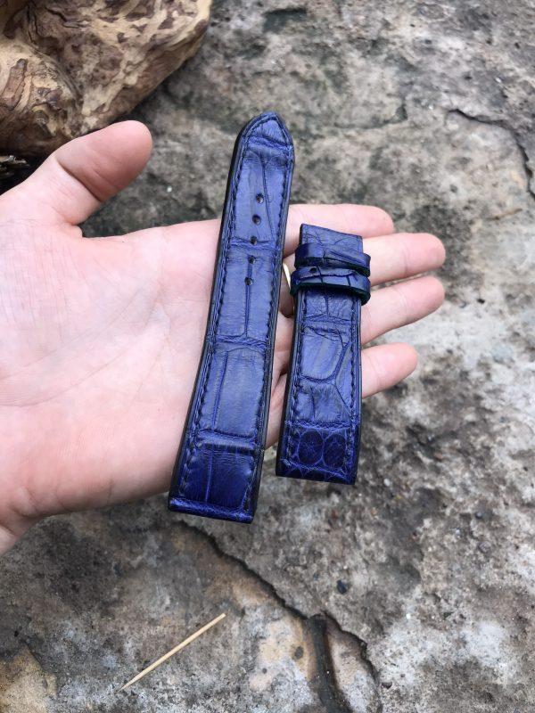 Dây đồng hồ da cá sấu EU cao cấp handmade 3