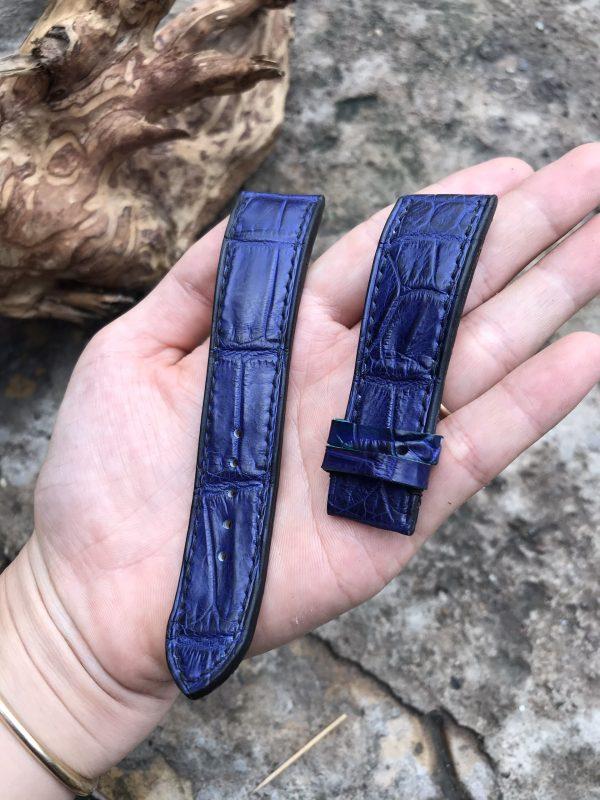 Dây đồng hồ da cá sấu EU cao cấp handmade 4
