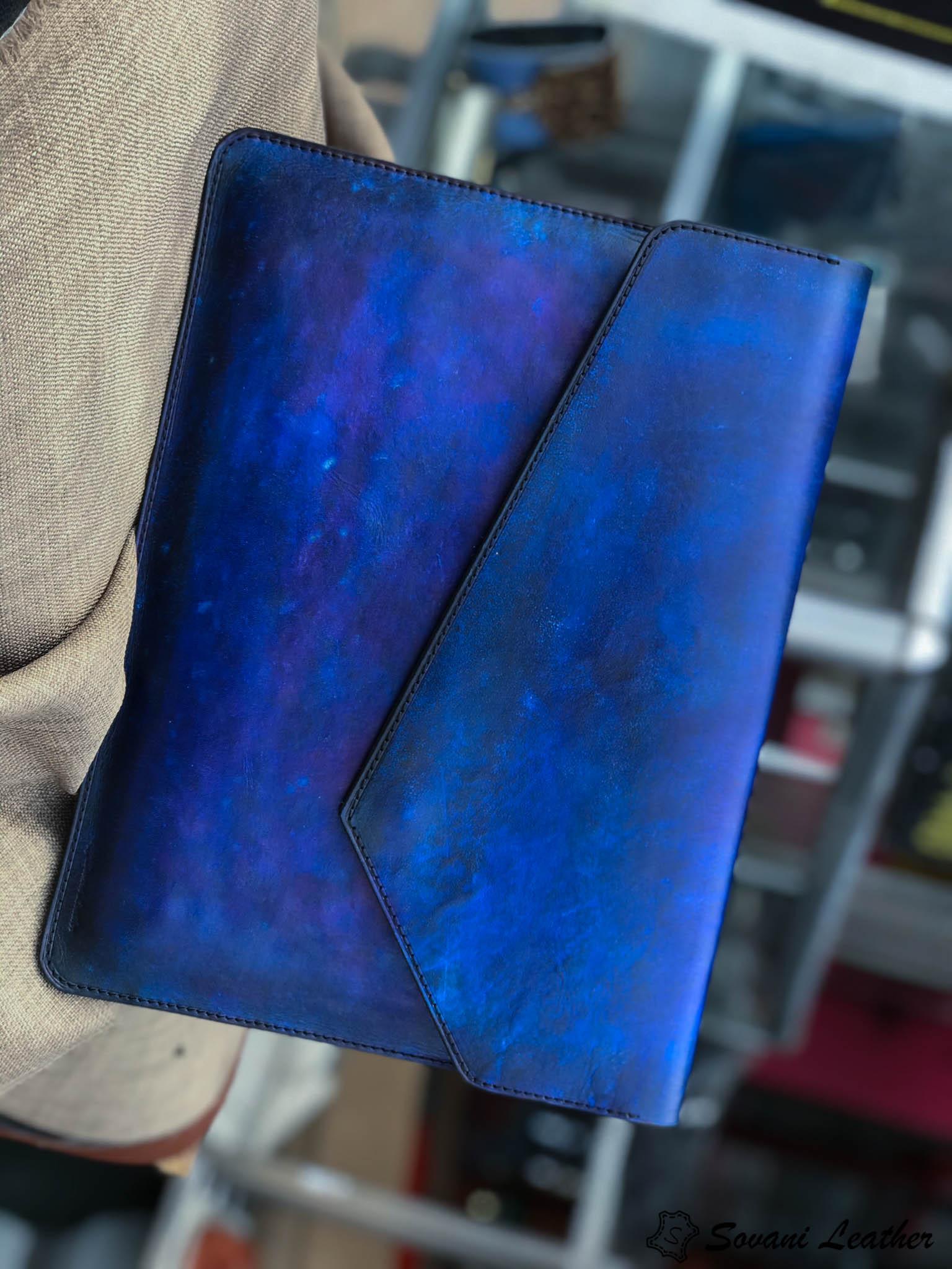 Bao da Macbook – Laptop – Surface – Ipad – table tap patina Xanh navy độc lạ 15