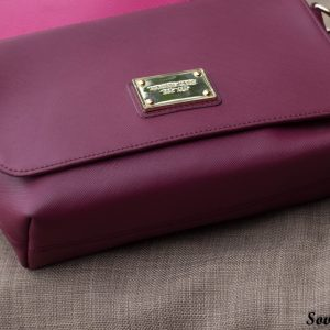 Túi xách nữ da bò màu đỏ đô 15