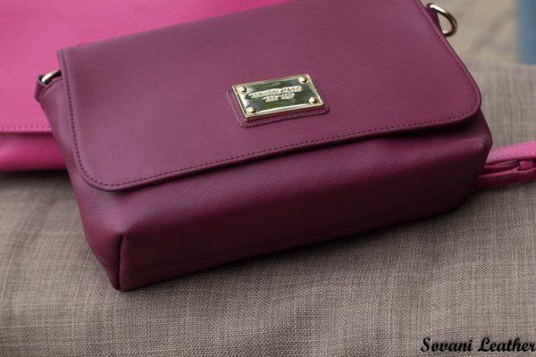 Túi xách nữ da bò màu đỏ đô 8
