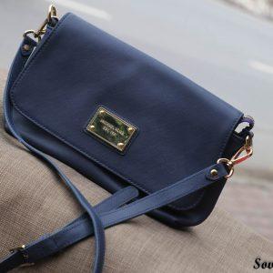 Túi xách nữ da bò màu xanh Navy 8