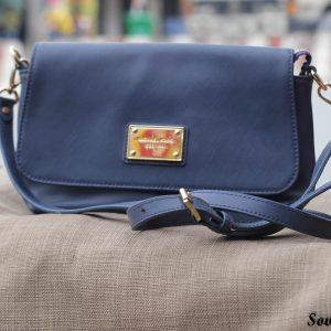Túi xách nữ da bò màu xanh Navy 9