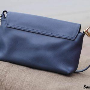 Túi xách nữ da bò màu xanh Navy 11