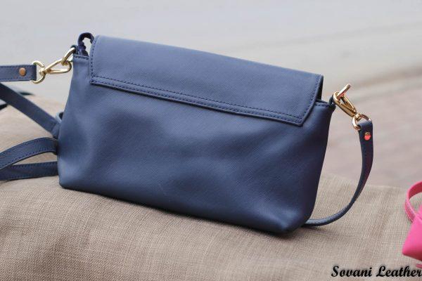 Túi xách nữ da bò màu xanh Navy 7