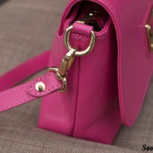 Túi xách nữ da bò màu hồng sen 12