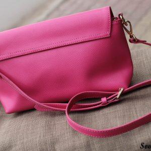 Túi xách nữ da bò màu hồng sen 13