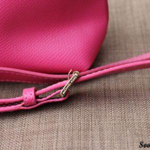 Túi xách nữ da bò màu hồng sen 14