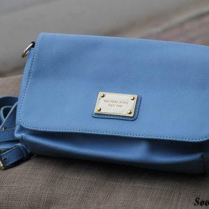 Túi xách nữ da bò màu xanh da trời nhạt 8